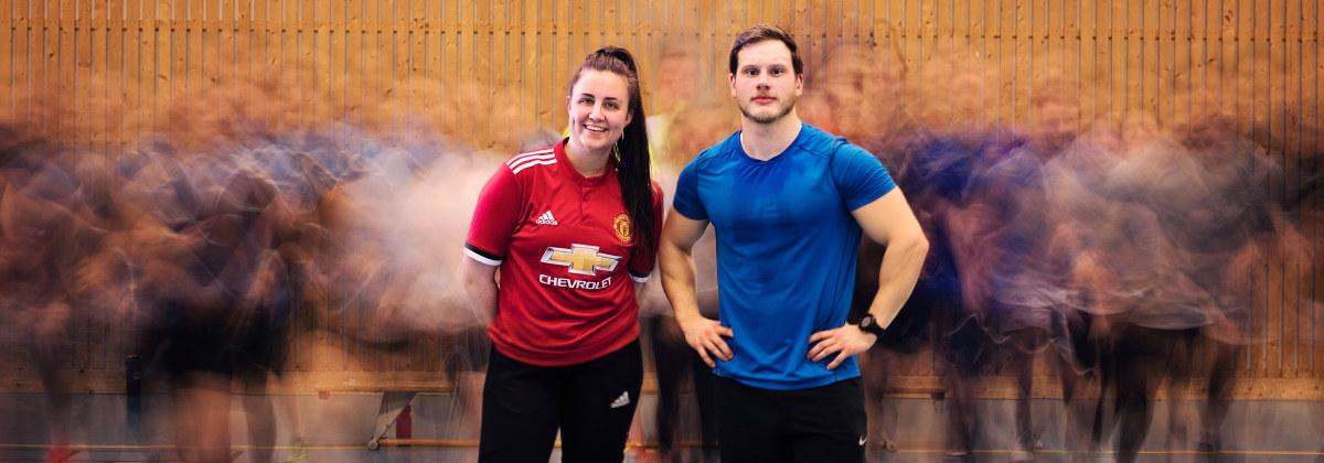 To personer i treningsklær. Foto.